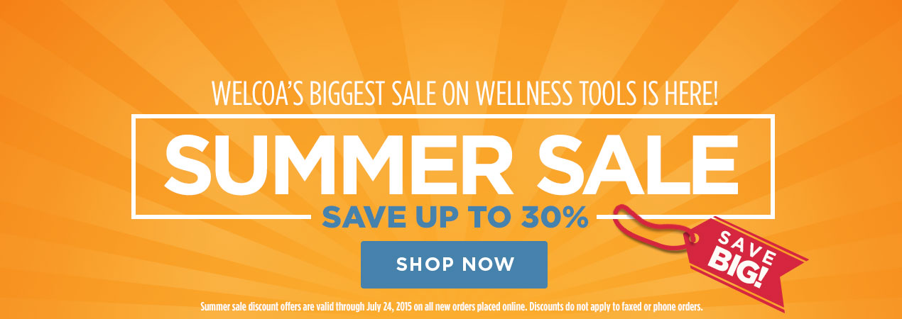 Save up to 30% on Wellness Products, Tools and Resources.