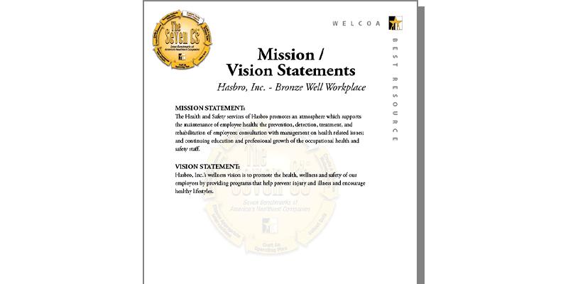Hasbro Inc Team Visionmission Statement Welcoa
